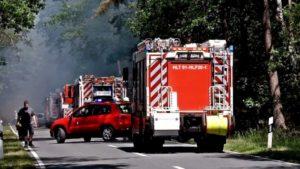 Feuerwehr Haltern FW Dülmen und FW Recklinghausen im Einsatz beim Waldbrand in Haltern-Lavesum